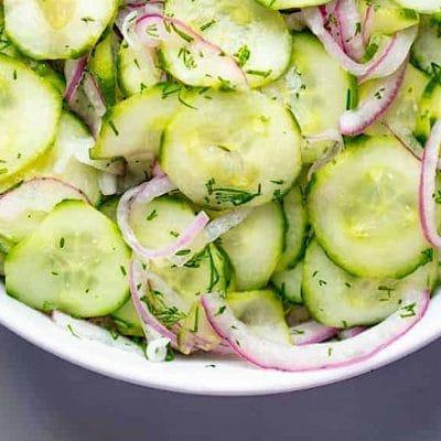Немска салата от краставици