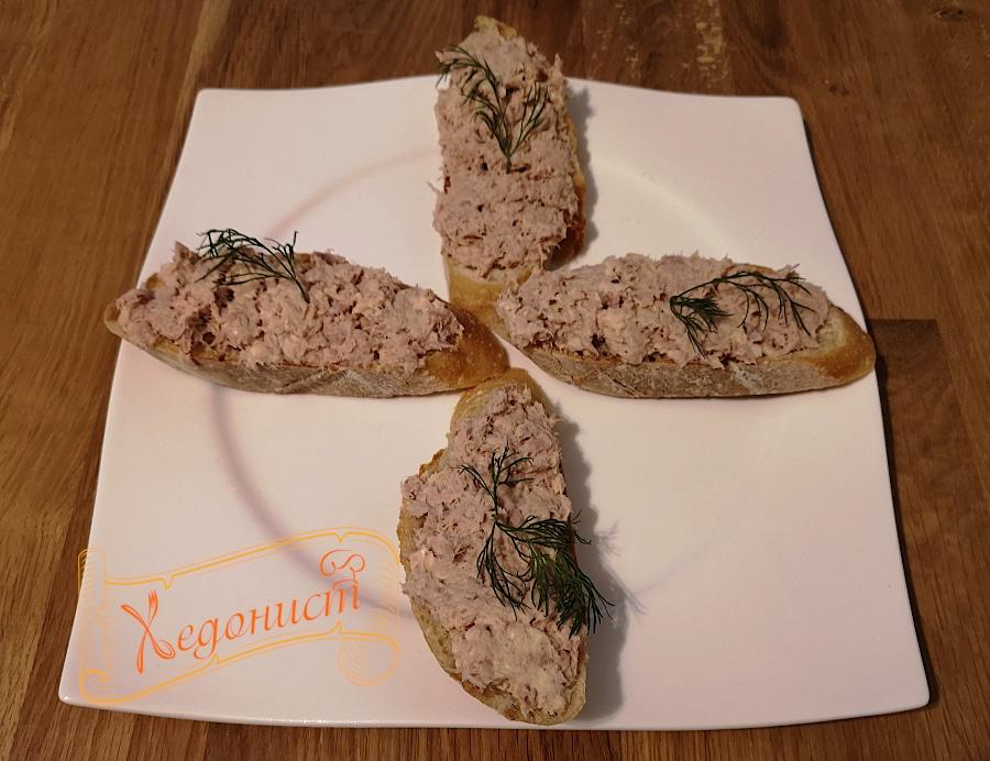 Кростини с риба тон (Crostini di Tonno)